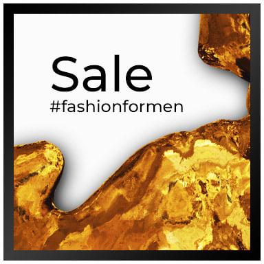 Sale of men's clothing